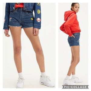 Levi's X Super Mario 501 High-Wasted Shorts NWT